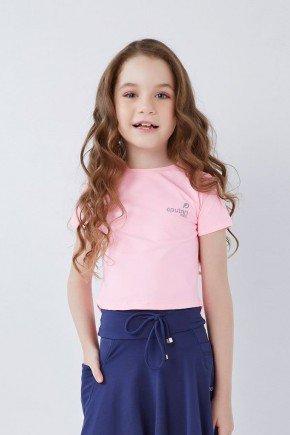 blusa cropped infantil rosa claro poliamida uv50 epulari kids
