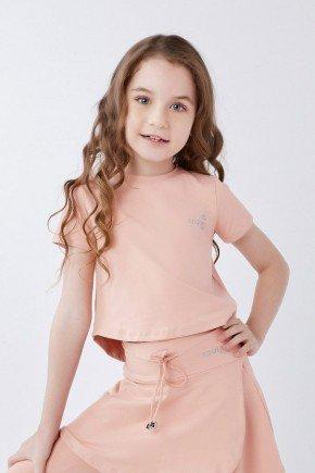 blusa cropped infantil rose poliamida uv50 epulari kids
