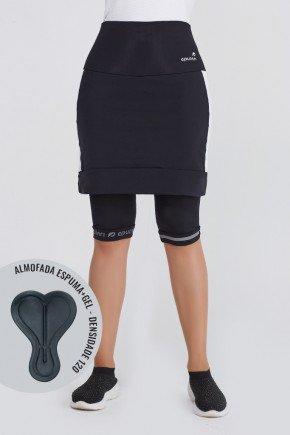 shorts saia ciclista preto branco com almofada uv50 epulari ep048br frente21