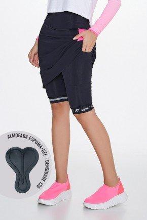shorts saia ciclista com almofada epulari frente baixo detalhe1