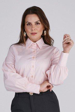 camisa feminina rose manga longa cloa 4
