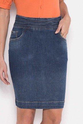 saia jeans cos diferenciado laura rosa baixo