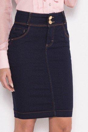 saia jeans marinho pespontos em duas cores laura rosa baixo