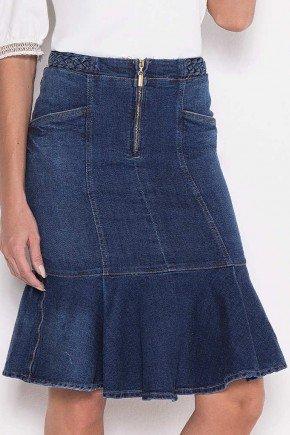 saia sino jeans detalhe trancado no cos laura rosa baixo