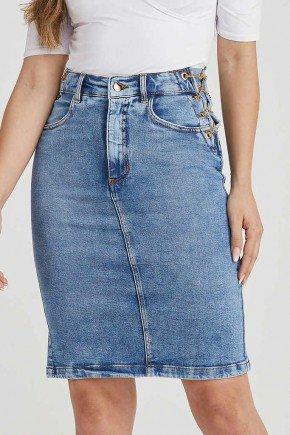 saia jeans reta correntes douradas lateral 9