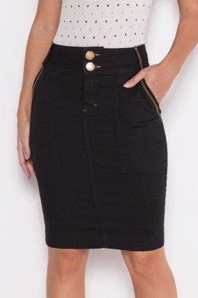 saia jeans preta costuras aparentes laura rosa lr89759 baixo