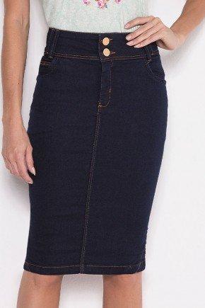 saia jeans marinho tradicional laura rosa baixo