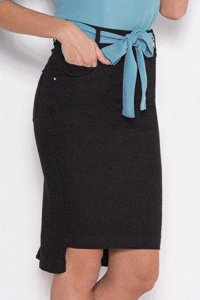 saia mullet preta com faixa laura rosa baixo