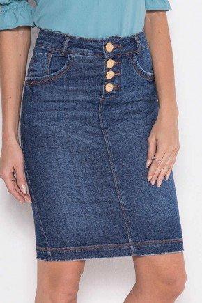 saia jeans tradicional com botoes laura rosa 6