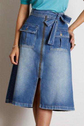 saia jeans midi com bolsos e abertura frontal via tolentino 6
