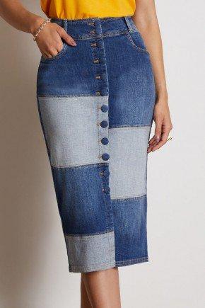 saia jeans midi com recortes e abotoamento via tolentino 7