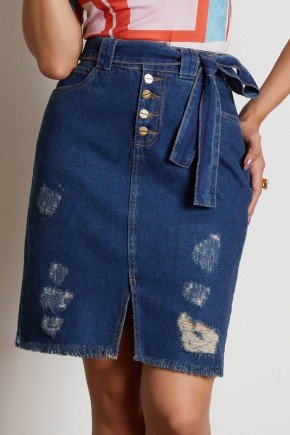 saia jeans destroyed com amarracao frontal via tolentino 6