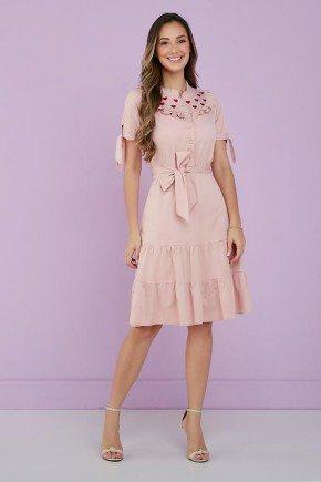 vestido rosa quartz detalhe bordado bruna tata martello 1