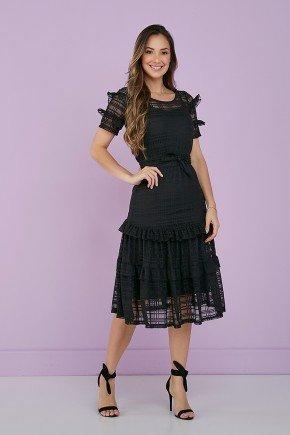vestido preto tule babadinhos 1