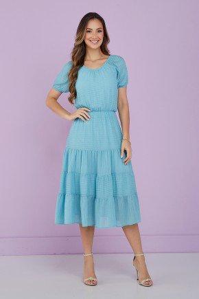 vestido azul claro evase midi 1