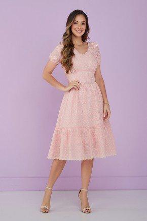 vestido rosa claro lesie 1