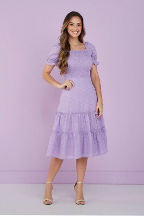 vestido lilas ombro a ombro em lesie tata martello