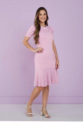vestido rosa em moletinho tata martello