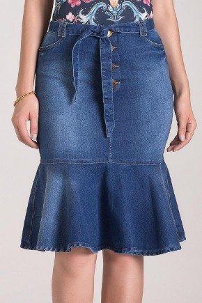 saia jeans sino com amarracao laura rosa 1