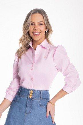 camisa rosa claro mangas bufantes 2