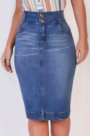 saia tradicional jeans cintura alta titanium baixo
