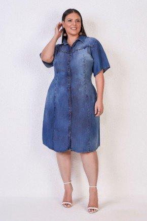 chemise plus size jeans sustentavel titanium