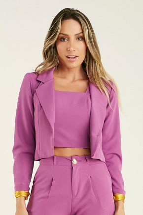 blazer feminino cropped roxo penelope cloa 1