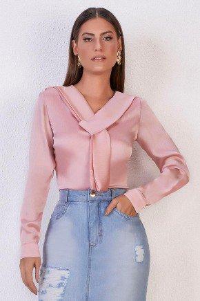 blusa manga longa rose acetinada gola laco titanium jeans 1