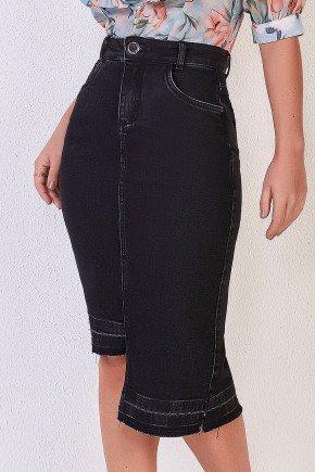 saia jeans preta barra assimetrica 2